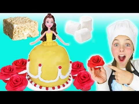 Thumbnail: Beauty And The Beast Princess Belle Rice Krispy Dress Cake Kids Cooking Marshmallow Dessert Recipes