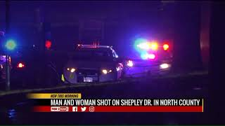 Man and woman shot in north county