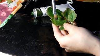 лист розы из холодного фарфора(Очень подробный мастер класс по лепке листа розы из холодного фарфора, показано сразу 2 метода с катерами..., 2015-01-28T20:50:44.000Z)