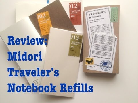 Comparison of the Notebook Refills for the Midori Traveler's Notebook [HD]