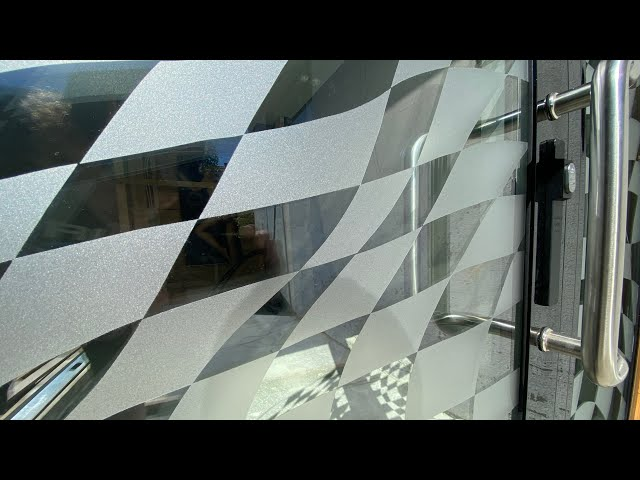 Hand made checkered flag on the new Workshop's Entrance Door - VLog131
