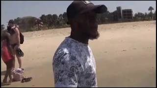 A Walk on The Beach In The Gambia