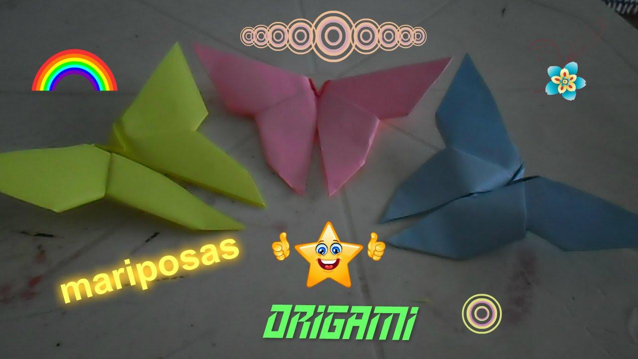 Origami como hacer mariposas de papel manualidades - Como hacer mariposas de papel ...
