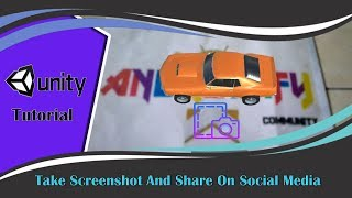 Augmented Reality Tutorial - Take Screenshot And Share On Social Media (Android & IOS)