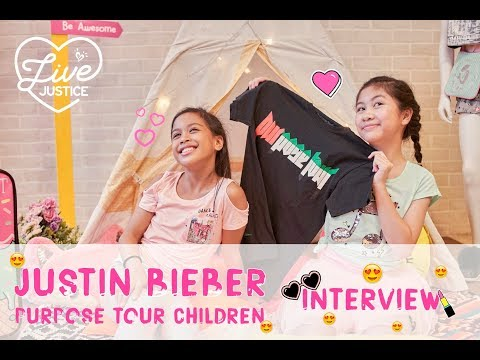 Justin Bieber Purpose Tour Children Interview - LIVE POSITIVE