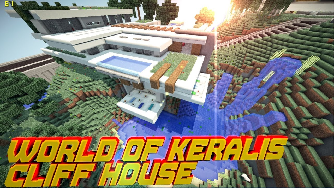 Minecraft pe modern cliff house world of keralis download youtube gumiabroncs Gallery