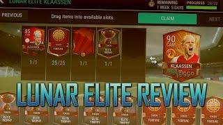 FIFA 17 MOBILE - 90 RATED LUNAR ELITE KLAASEN REVIEW!