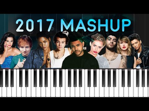 2017 MASHUP :Billboard Piano Hit Songs Megamix