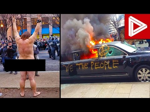 Donald Trump Inauguration INSANE Protests & Riots Compilatio