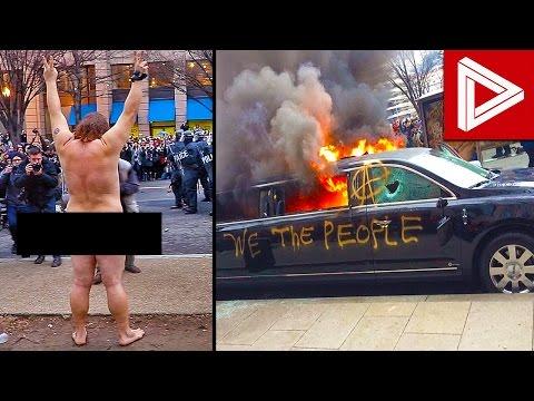 Donald Trump Inauguration INSANE Protests & Riots Compilation! (Inauguration Riots Compilation)
