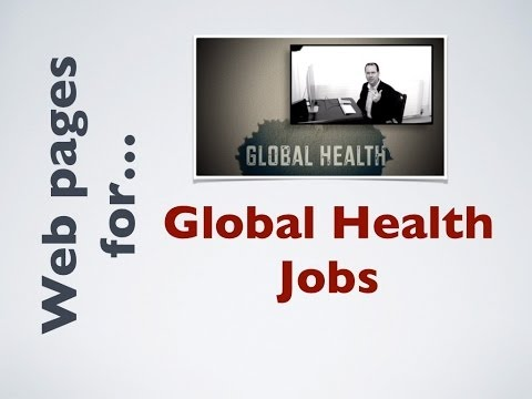 Web pages for jobs in Global Health