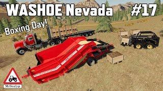 WASHOE Nevada, #17, Boxing Day! Farming Simulator 19, PS4, Let's Play.
