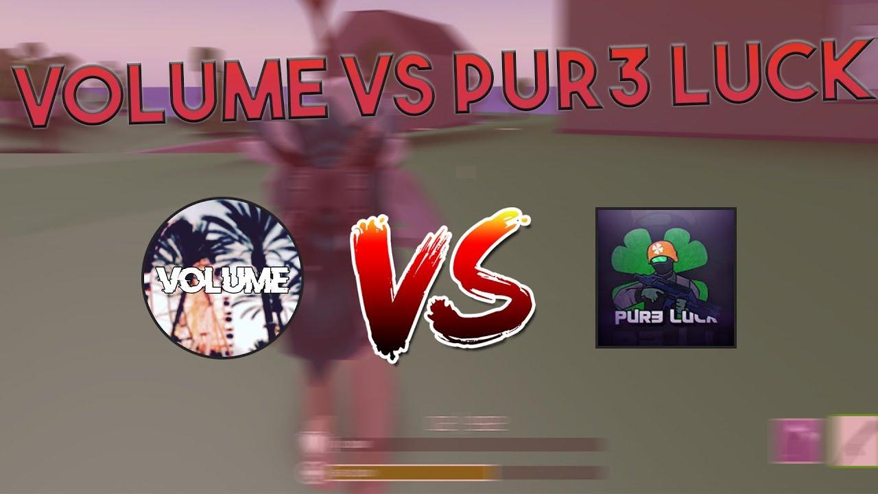 VOLUME VS PUR3 LUCK IN STRUCID! - YouTube