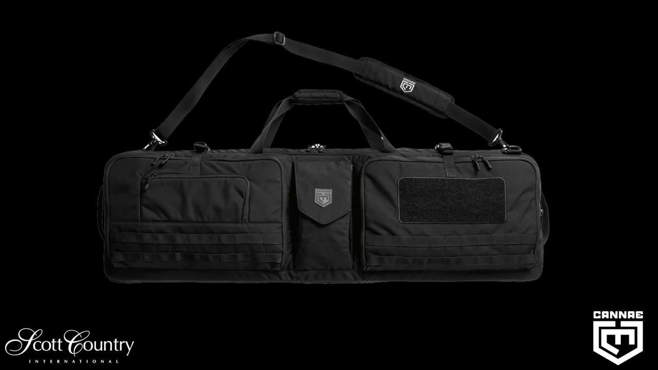Cannae Pro Gear The Triplex Acies 2 Long Gun and 2 Hand Gun Carry Bag Black