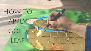 How to apply gold leaf to an oil painting