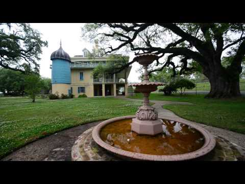 Plantation San Francisco mansion on the river in St. John's Parish Louisiana