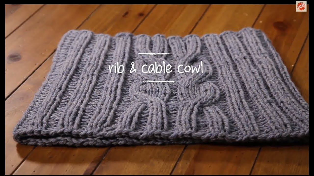 Cable Knit Cowl with pattern | 1 Hour Project Knitting Tutorial with ...