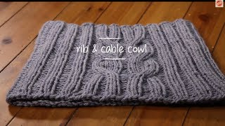Cable Knit Cowl with pattern | 1 Hour Project Knitting Tutorial with Stefanie Japel