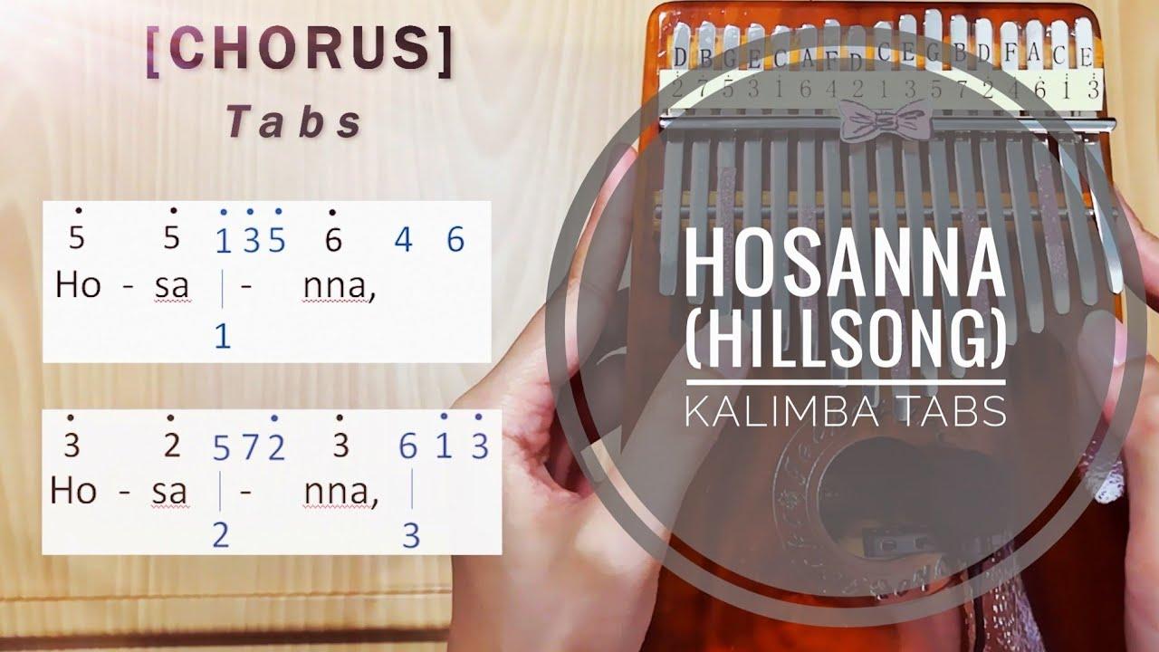 Hosanna Hillsong   Kalimba Tabs & Tutorial
