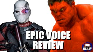 SUICIDE SQUAD & RED HULK (Epic Voice Review)