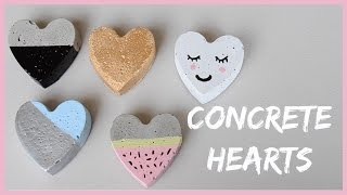 DIY Concrete Hearts | Valentine's Day Room Decor Craft Ideas  | Ali Coultas