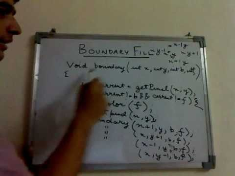 Implementation Of Line Drawing Algorithm In C : Boundary fill algorithm flood youtube