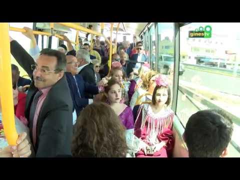 El servicio de autobuses entre Gines y la Feria podrá pagarse con la Tarjeta del Consorcio
