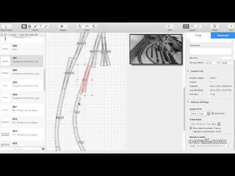 oorail.com | Creating a Model Railway Track Plan with RailModeller Pro
