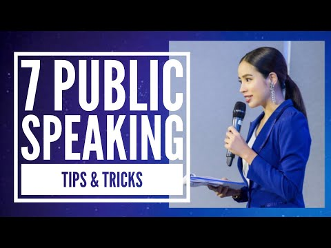 7 public speaking tips and tricks