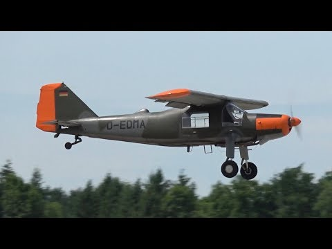 Dornier Do-27A-4 D-EDMA Low flypast and Landing at Penzing A