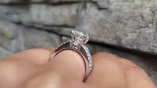 A. Jaffe MES103/40 Classic Two Row Diamond Engagement Ring Setting