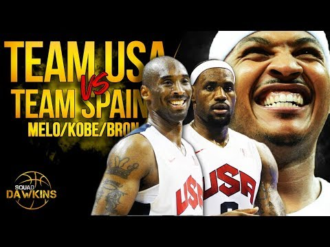 Melo, LeBron, Kobe, KD x 2012 Team USA DESTROY Spain | SQUADawkins