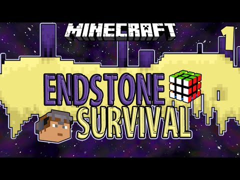 Minecraft | ENDSTONE SURVIVAL #1 | WATCH YOUR MOUTH! w/ SkitScape (Minecraft End Stone Survival)