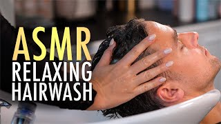 ASMR Relaxing Hair Wash and Scalp Massage Experience