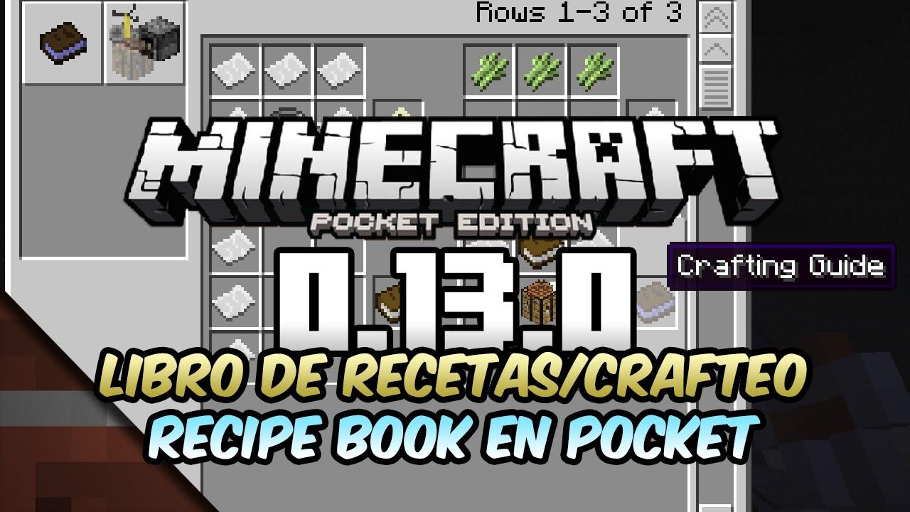 Noticias Minecraft PE (Pocket Edition) 0.13.0 | Libro de Recetas ...