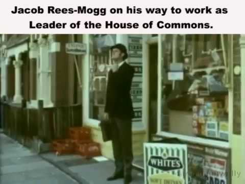 Jacob Rees-Mogg Leader of the House of Commons  On his way to work