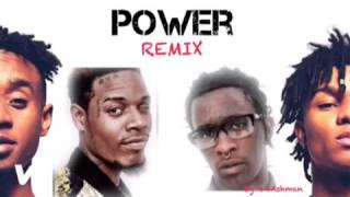 Young Thug- Power REMIX FT. Fetty Wap, Rae Sremmurd (Mashup)
