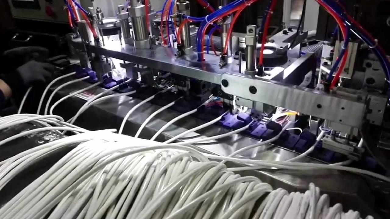 1,000-1,200/hr 3 Poles plug full line wire processing cutting ...
