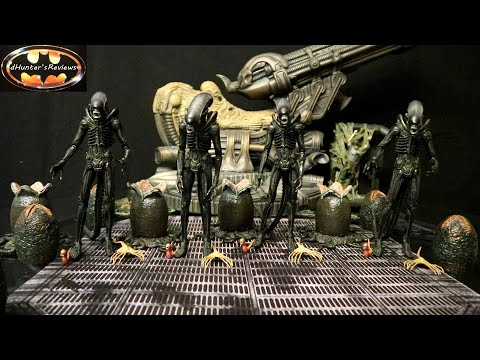 4x NECA Alien Ultimate Big Chap 40th Anniversary Action Figure Review & Comparison Aliens