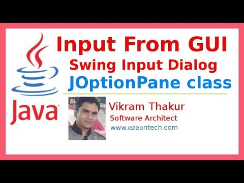 33 - Input Using Swing Input-Dialog in Java - By eZeon