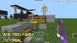 Minecraft PE Survival」AFK Fish Farm & Auto Clicker