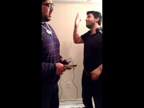 Ali Rizvi and Farzad Moosvi reading Kuch nahi hum ghum-e-Sarwar k siwa mangte hain