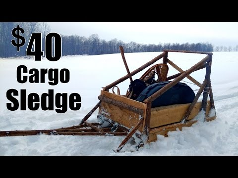 Cargo Sledge for $40- DIY- Dog Sled Design!