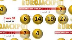 Eurojackpot. Die Gewinnzahlen vom 23.6.2017