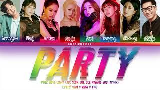 PINK NOSE LIGHT (JEE SEOK JIN, LEE KWANG SOO, APINK) - PARTY (Color Coded Lyrics/가사 Han//Rom//Eng)