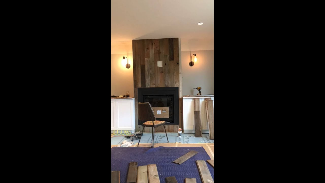 Reclaimed Wood Fireplace DIY
