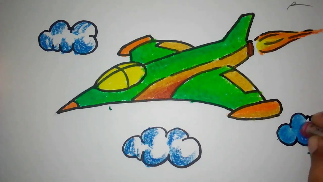 Kumpulan Contoh Sketsa Gambar Pesawat Untuk Lukis Kanvas