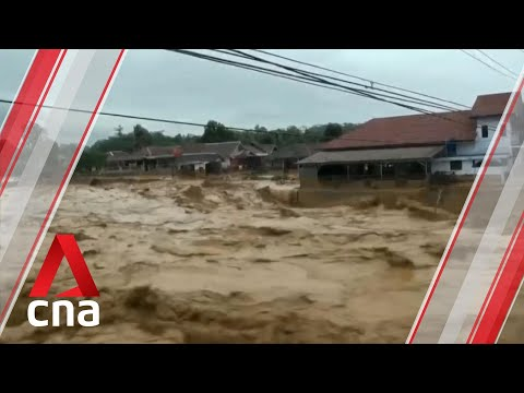 Flash floods and landslides in Jakarta destroy homes