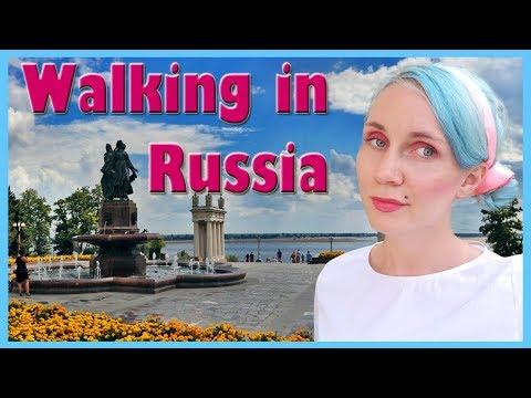 Walking in Volgograd Russia  /  Beautiful Russian Embankment