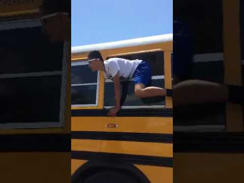Me Jumping out of a Bus